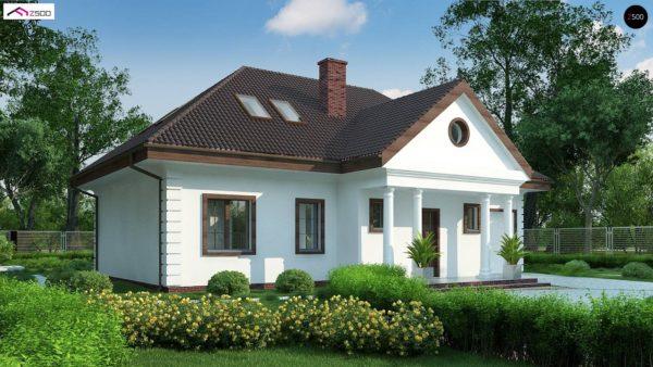 Фото 5 - Z2 A - Проект дома в классическом стиле с роскошной мансардой и стильным экстерьером.