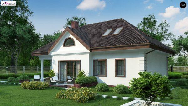 Фото 6 - Z2 A - Проект дома в классическом стиле с роскошной мансардой и стильным экстерьером.