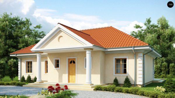 Фото 1 - Z2 - Проект в стиле дворянской усадьбы с возможностью обустройства чердачного помещения.