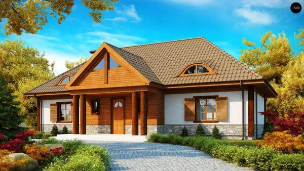 Фото 1 - Z20 - Просторный дом в стиле старинной усадьбы с необычными мансардными окнами и крытой террасой.