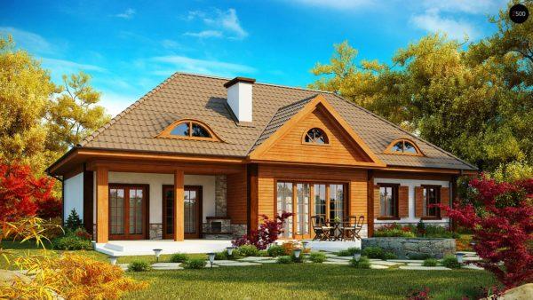 Фото 2 - Z20 - Просторный дом в стиле старинной усадьбы с необычными мансардными окнами и крытой террасой.