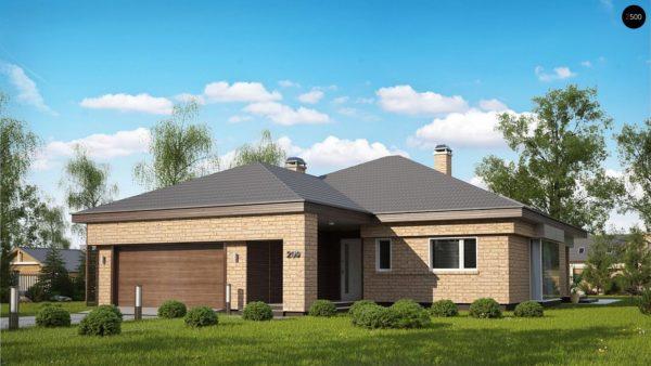 Фото 1 - Z200 k - Вариант проекта Z200 с кирпичной облицовкой фасадов.