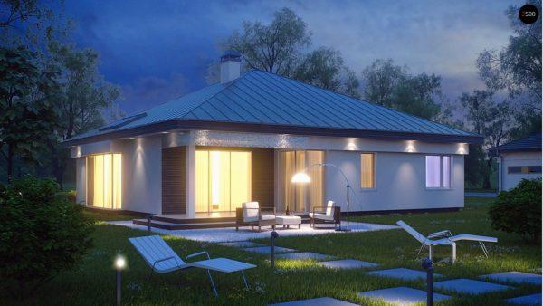 Фото 2 - Z200 - Удобный одноэтажный дом с гаражом для двух автомобилей, с большой площадью остекления в дневной зоне.