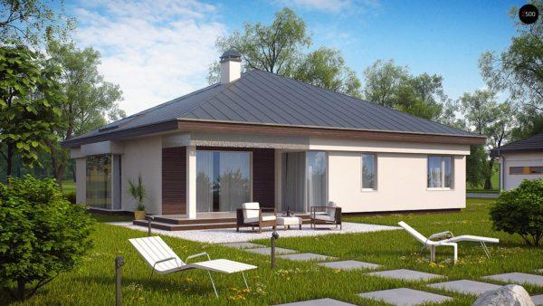 Фото 4 - Z200 - Удобный одноэтажный дом с гаражом для двух автомобилей, с большой площадью остекления в дневной зоне.
