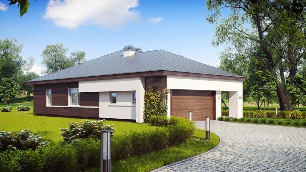 Фото 6 - Z200 - Удобный одноэтажный дом с гаражом для двух автомобилей, с большой площадью остекления в дневной зоне.