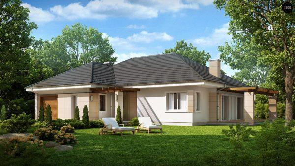 Фото 1 - Z201 - Практичный одноэтажный дом с гаражом для одной машины и возможностью адаптации чердачного помещения.