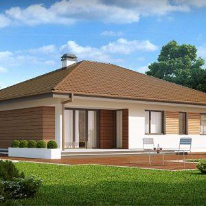 Фото 30 - Z203 - Проект удобного одноэтажного дома с гаражом для двух автомобилей и большим хозяйственным помещением.