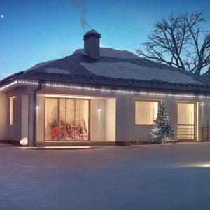Фото 8 - Z207 - Функциональный одноэтажный дом с фронтальным гаражом для двух авто, большим хозяйственным помещением, с кухней со стороны сада.