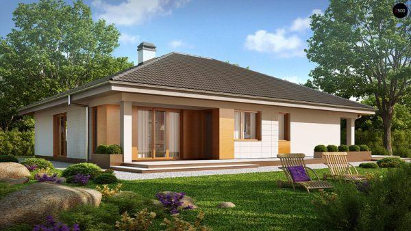 Фото 1 - Z209 - Практичный одноэтажный дом с гаражом для двух автомобилей и большим хозяйственным помещением.