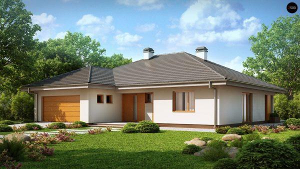 Фото 2 - Z209 - Практичный одноэтажный дом с гаражом для двух автомобилей и большим хозяйственным помещением.