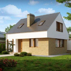 Фото 12 - Z221 - Компактный стильный дом простой формы с большой площадью остекления в дневной зоне.