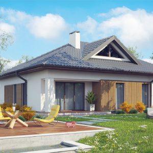 Фото 9 - Z230 - Проект комфортного одноэтажного дома с оригинальными фасадными окнами на чердаке.