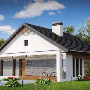 Фото 10 - Z242 - Одноэтажный дом с дополнительной фронтальной террасой.