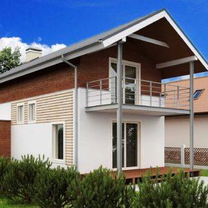 Фото 8 - Z25 - Проект двухэтажного дома для очень узкого участка.