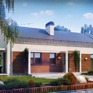 Фото 20 - Z258 - Проект небольшого одноэтажного дома простого современного дизайна.