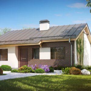 Фото 12 - Z262 - Простой и недорогой в строительстве одноэтажный дом небольшой площади.