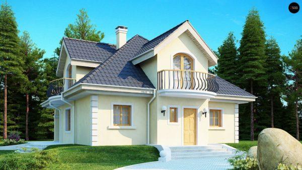 Фото 1 - Z27 - Проект изысканного классического дома с мансардой.