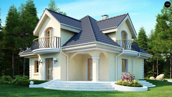Фото 2 - Z27 - Проект изысканного классического дома с мансардой.
