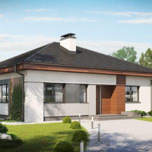 Фото 12 - Z273 - Проект стильного одноэтажного дома в классическом стиле.