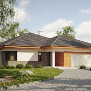 Фото 25 - Z281 - Одноэтажный просторный дом с эркером и крытой террасой.