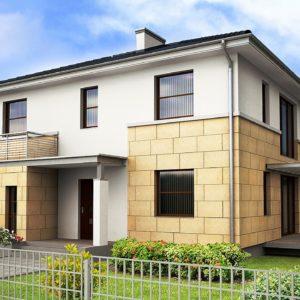 Фото 11 - Z29 - Современный двухэтажный дом простой формы с террасой на втором этаже.