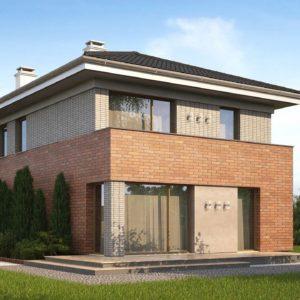 Фото 14 - Z295 k - Проект компактного, функционального дома, с кирпичной облицовкой фасадов.