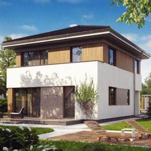 Фото 13 - Z295 - Проект компактного двухэтажного дома строгого современного стиля.