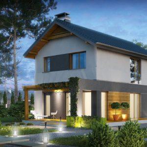 Фото 18 - Z297 - Небольшой двухэтажный дом с современными архитектурными элементами, подходящий для узкого участка.