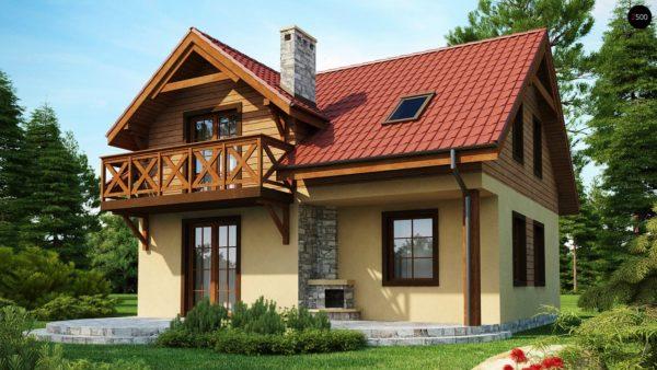 Фото 1 - Z3 - Компактный дом с мансардой с камином на террасе.