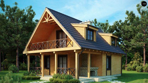 Фото 1 - Z30 - Компактный дом с мансардой, с крытой террасой и внешним камином.