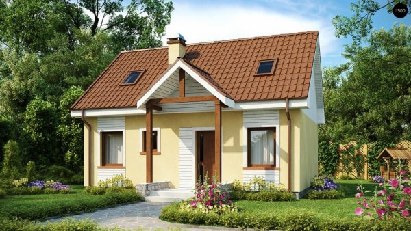 Фото 1 - Z32 - Компактный традиционный дом простой формы с двускатной крышей.