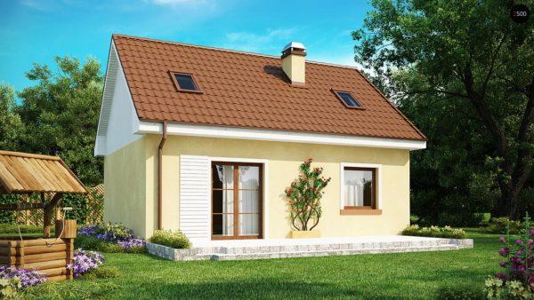 Фото 2 - Z32 - Компактный традиционный дом простой формы с двускатной крышей.