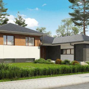 Фото 17 - Z335 - Стильный дом с мезонином и гаражом для одной машины.