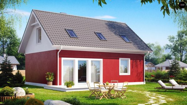 Фото 1 - Z34 - Практичный дом для небольшого участка, простой в строительстве, дешевый в эксплуатации.