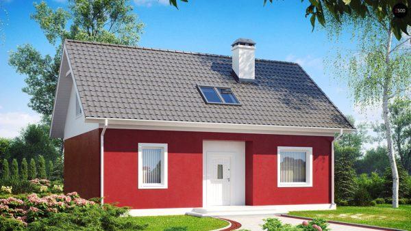 Фото 2 - Z34 - Практичный дом для небольшого участка, простой в строительстве, дешевый в эксплуатации.