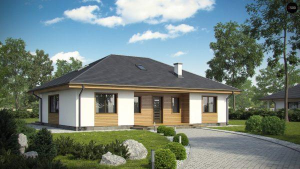 Фото 1 - Z35 bG - Комфортный одноэтажный дом традиционного дизайна.