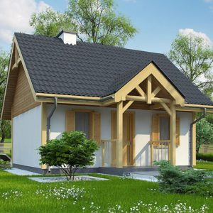 Фото 18 - Z352 - Проект уютного гостевого домика.