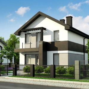 Фото 9 - Z372 - Компактный двухэтажный дом для узких участков.