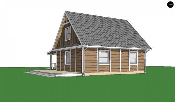 Фото 2 - Z39 B GF lk - Вариант проекта Z39 c деревянными фасадами и гаражом расположенным с левой стороны.