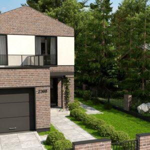 Фото 24 - Z398 - Двухэтажный проект дома с гаражом расположенным фронтально Подойдет для узкого участка.