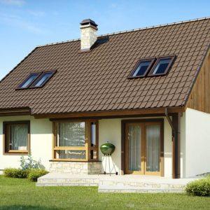 Фото 26 - Z40 - Выгодный и простой в строительстве дом с эркером в дневной зоне.