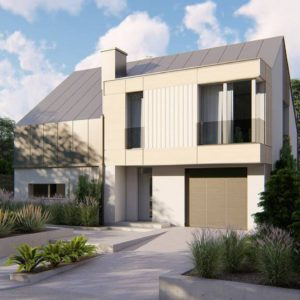 Фото 26 - Z408 - Cовременный проект дома с двускатной крышей и просторными большими мансардными окнами.