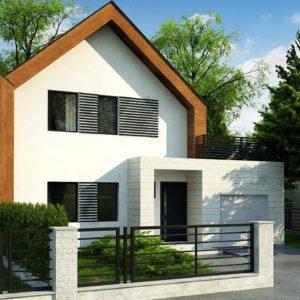 Фото 27 - Z424 - Современный дом с двускатной крышей и гаражом для одного пользователя.