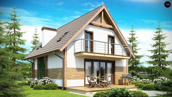 Фото 1 - Z45 - Предложение выгодного и практичного дома, подходящего для удлиненного или, наоборот, неглубокого участка.