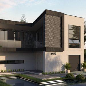 Фото 28 - Z450 - Проект современного двухэтажного дома с оригинальным экстерьером и гаражом на один автомобиль.