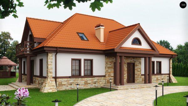 Фото 1 - Z46 - Проект двухсемейного дома в стиле дворянской усадьбы.