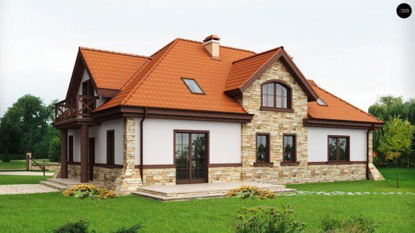 Фото 2 - Z46 - Проект двухсемейного дома в стиле дворянской усадьбы.