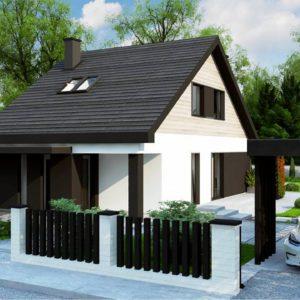 Фото 30 - Z468 - Проект современного мансардного дома компактных размеров со спальней на первом этаже.