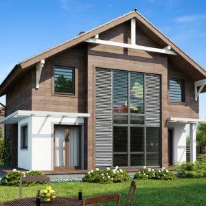 Фото 22 - Z47 - Проект двухэтажного дома с большой площадью остекления.