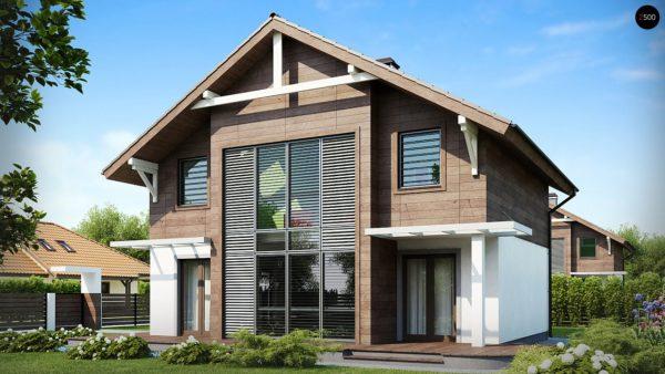 Фото 3 - Z47 - Проект двухэтажного дома с большой площадью остекления.